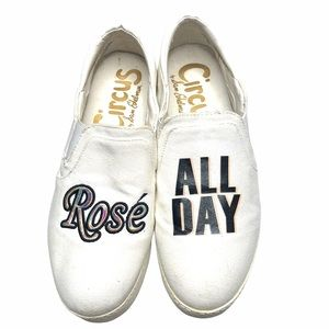 Circus by Sam Edelman Rose All Day White Shoes 8